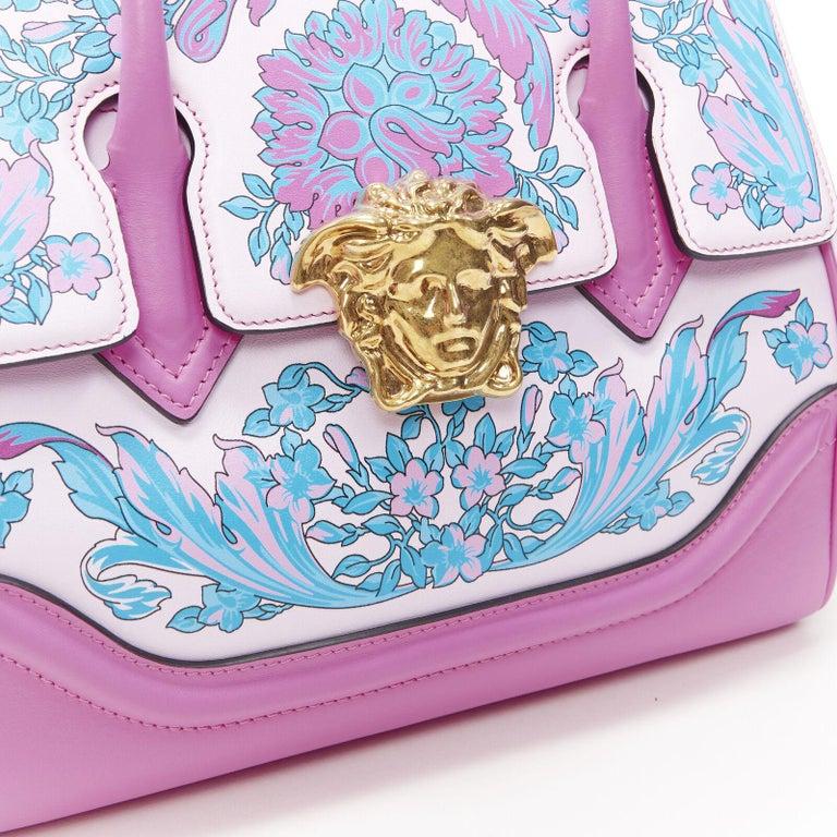 VERSACE Palazzo Empire Small Technicolor Baroque pink Medusa tote bag 4