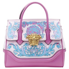 VERSACE Palazzo Empire Small Technicolor Baroque pink Medusa tote bag