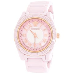 Versace Pink Mother of Pearl Pink DV One 63QCP5 Women's Wristwatch 35 mm