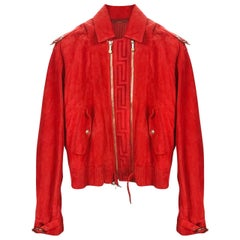 Versace Red Leather jacket for Men