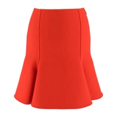 Versace Red Wool Mini Skirt SIZE 38 IT