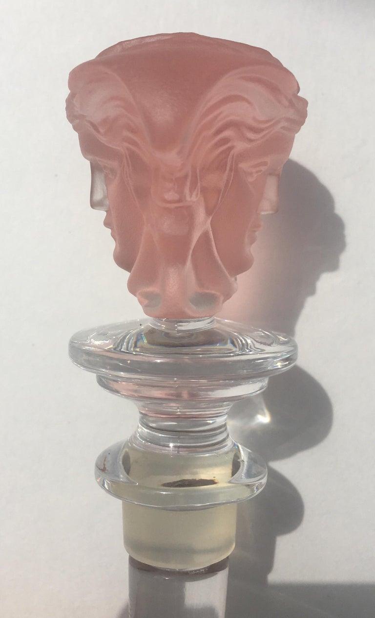 Austrian Versace Rosenthal Crystal Medusa Wine Bottle Stopper For Sale