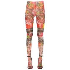 Versace Sheer Printed Stretch Tulle Leggings IT40 US4