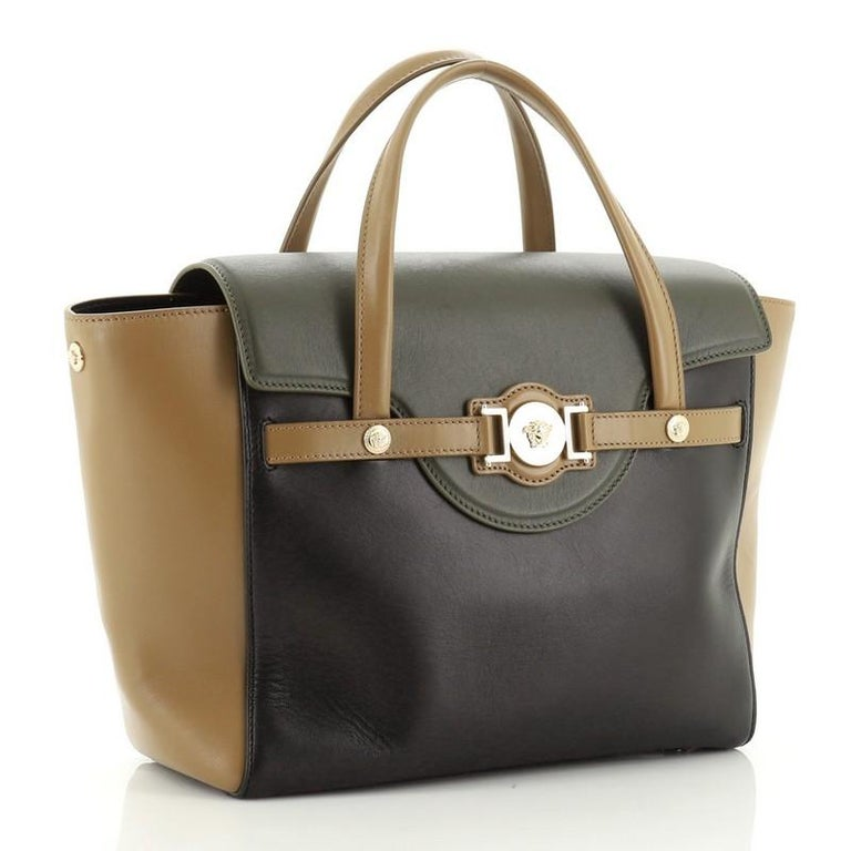 Versace Signature Bag Leather Large  In Good Condition For Sale In New York, NY