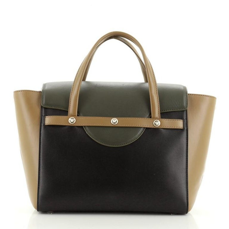 Women's or Men's Versace Signature Bag Leather Large  For Sale