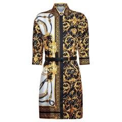 VERSACE SIGNATURE PRINT SILK SHIRT Dress 38 - 2, 40 - 4, 42 - 6