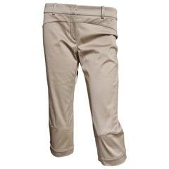 Versace Silk Seamed Crop Pants