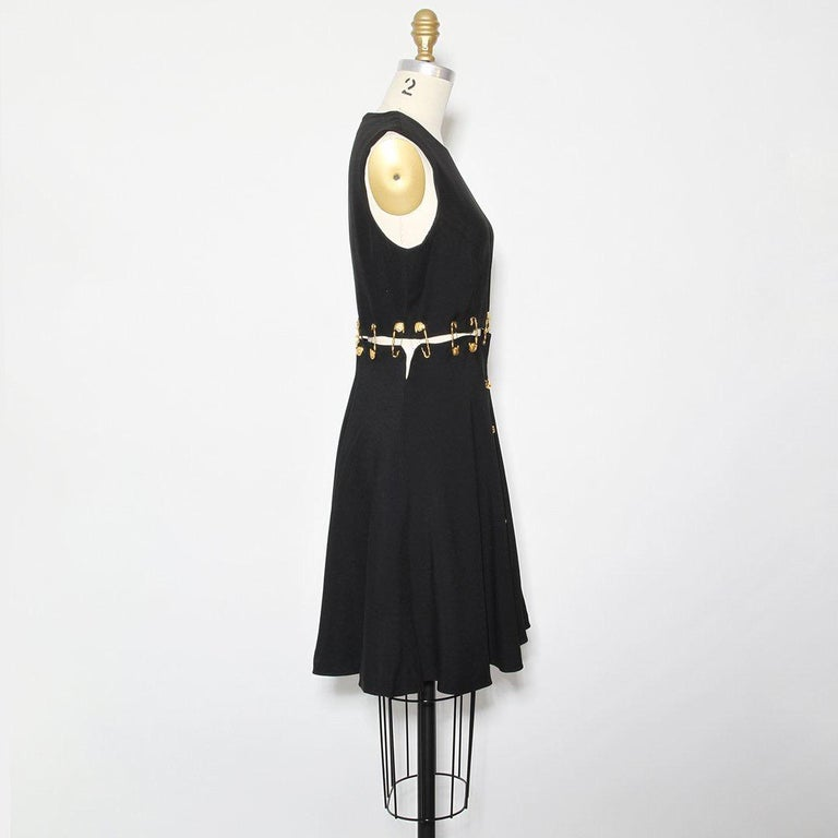 Versace Spring 1994 Safety Pin Mini Dress In Excellent Condition For Sale In Los Angeles, CA