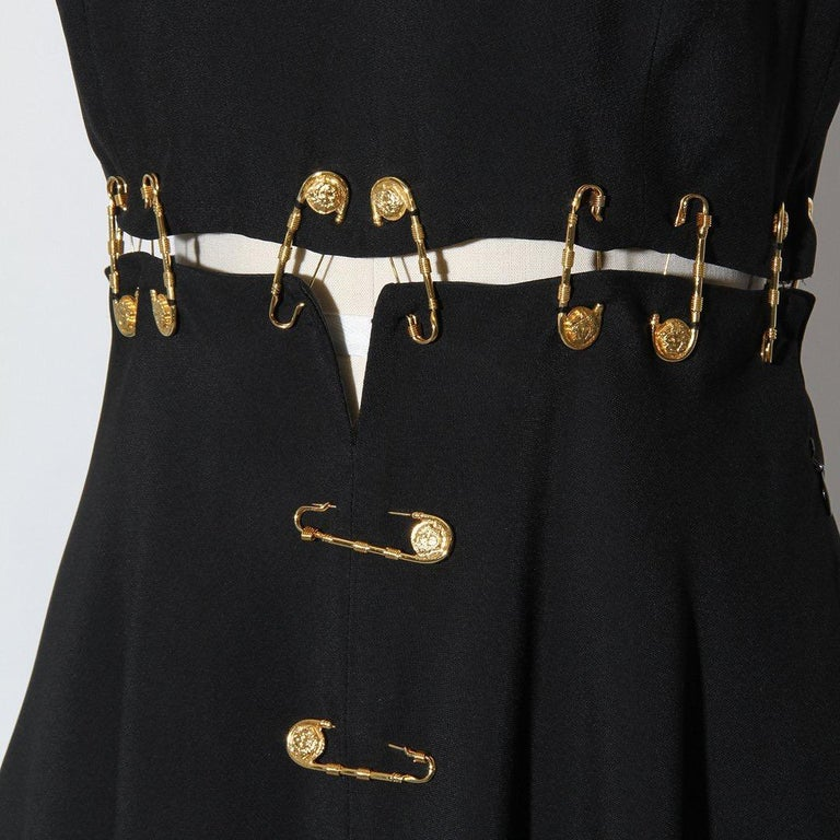 Women's Versace Spring 1994 Safety Pin Mini Dress For Sale