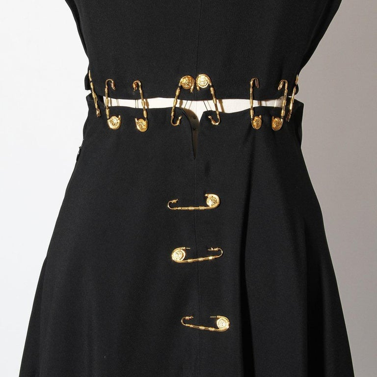 Versace Spring 1994 Safety Pin Mini Dress For Sale 1