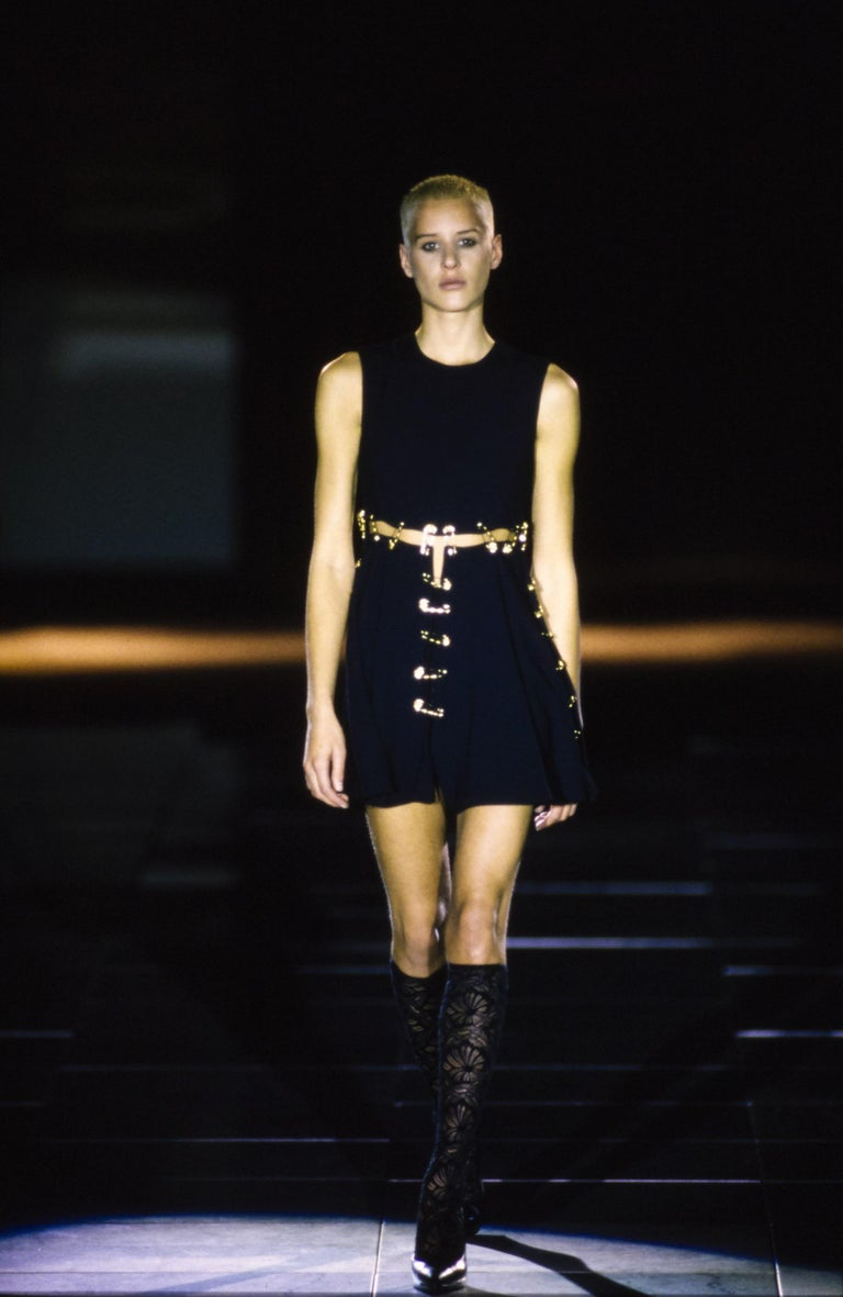 Versace Spring 1994 Safety Pin Mini Dress For Sale 4