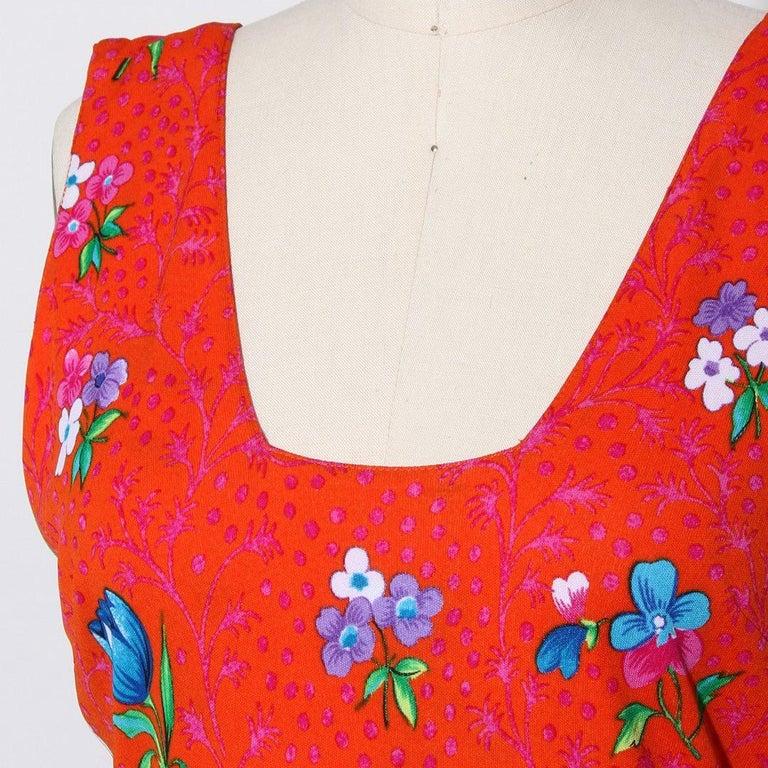 Women's Versace Spring Summer 1993 Floral Jersey Maxi Dress For Sale