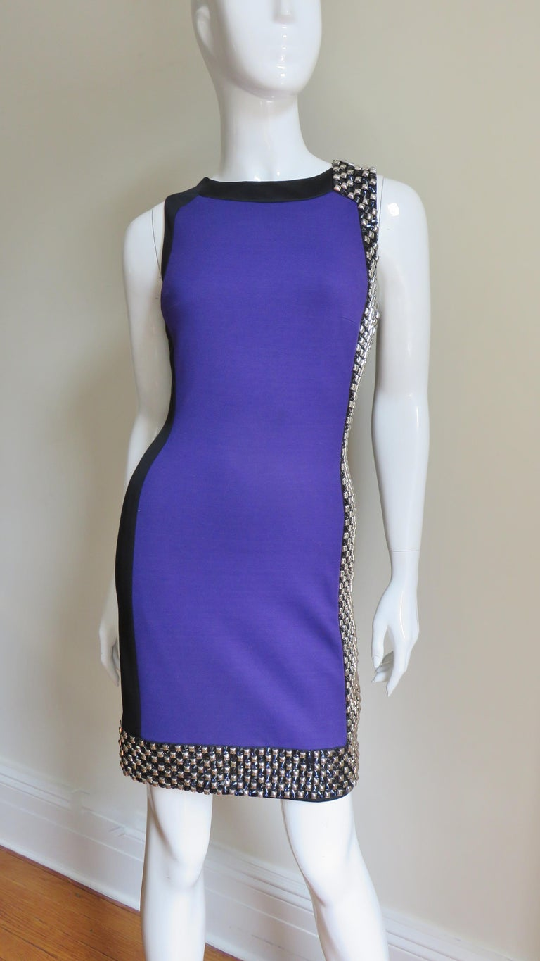 342391f7 Versace Studded Color Block Dress