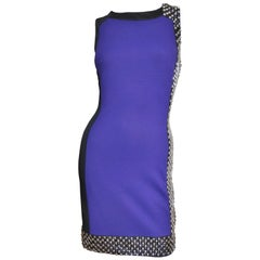 Versace Studded Color Block Dress