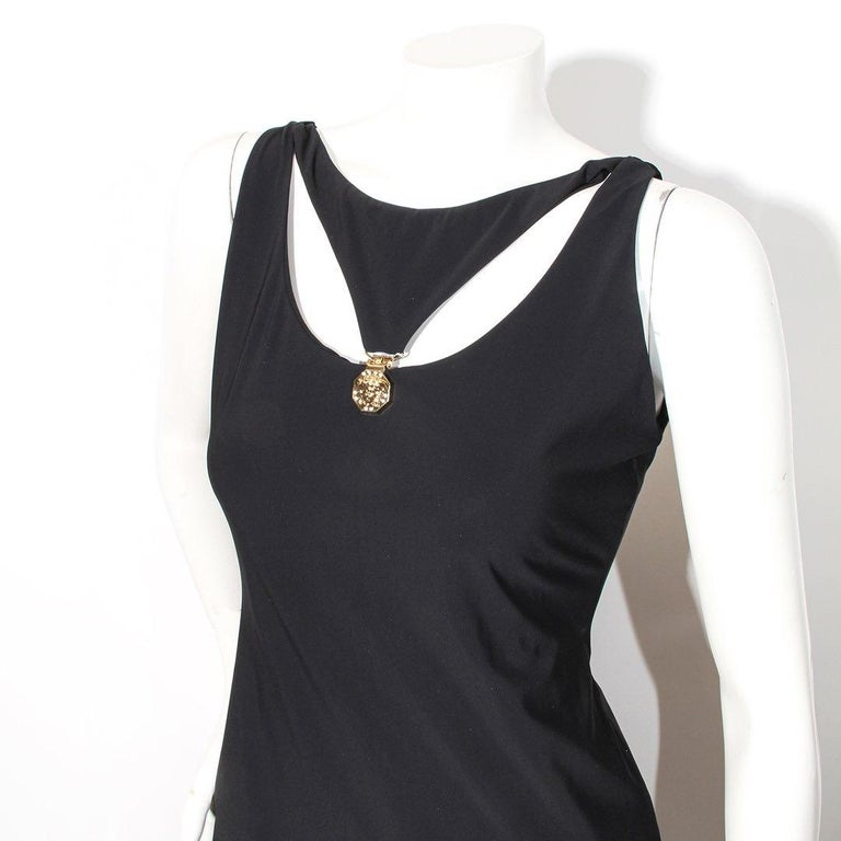 Black Versace Swim Dress For Sale