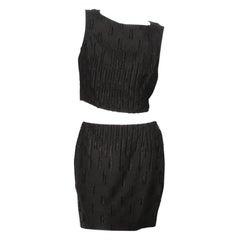Versace Textured Skirt Set