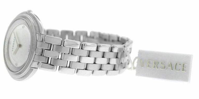 Women's or Men's Versace THEA VA706/ 0013 Stainless Steel Quartz Watch For Sale