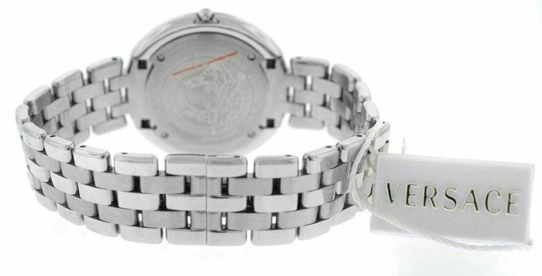 Versace THEA VA706/ 0013 Stainless Steel Quartz Watch For Sale 1