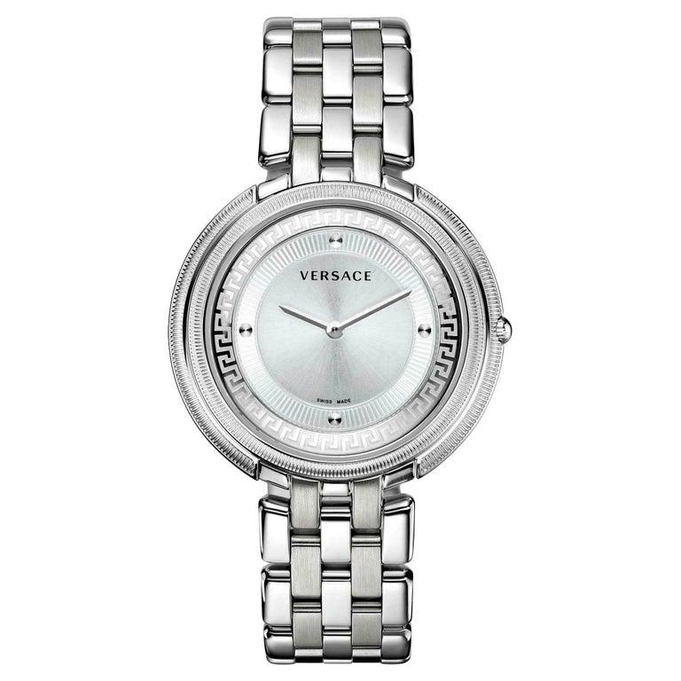 Versace THEA VA706/ 0013 Stainless Steel Quartz Watch For Sale