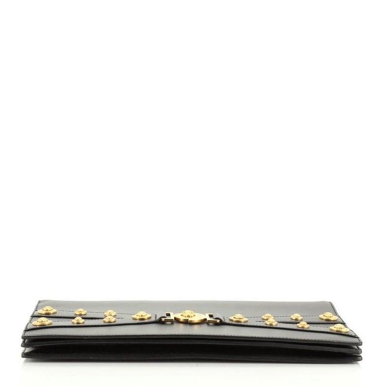 Women's or Men's Versace Tribute Medallion Flap Clutch Leather Medium