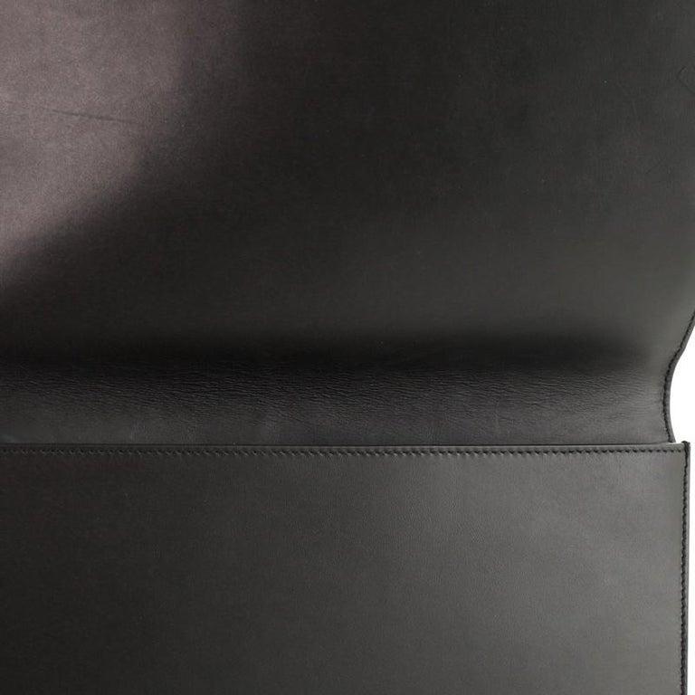 Versace Tribute Medallion Flap Clutch Leather Medium  2