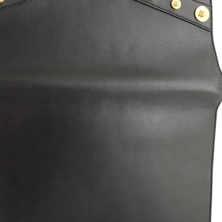 Versace Tribute Medallion Flap Clutch Leather Medium  3