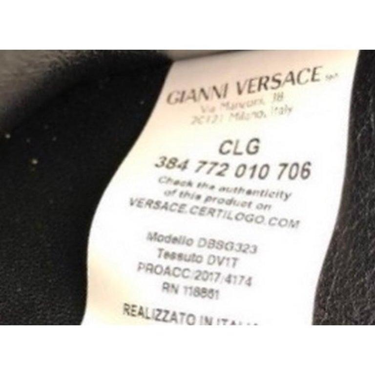 Versace Tribute Medallion Flap Clutch Leather Medium  4
