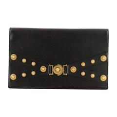Versace Tribute Medallion Flap Clutch Leather Medium