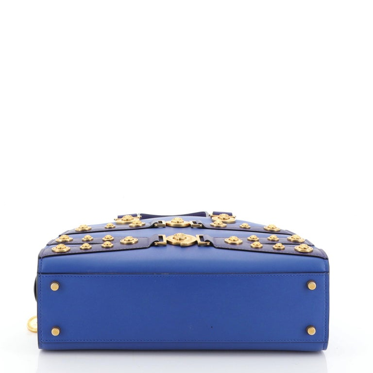 Versace Tribute Medallion Handbag Leather Medium For Sale 1