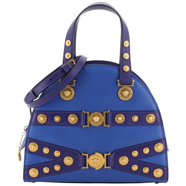 Versace Tribute Medallion Handbag Leather Medium For Sale