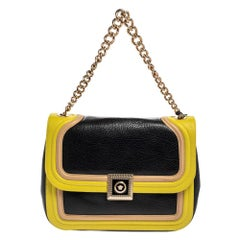 Versace Tricolor Leather Medusa Chain Flap Shoulder Bag