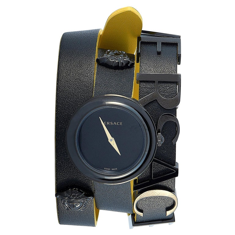 Versace V-Flare Black Double Wrap Watch VEBN00518 For Sale
