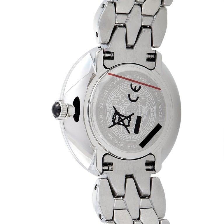 Women's Versace V-Flare Stainless Steel Quartz Watch VEBN00618 For Sale