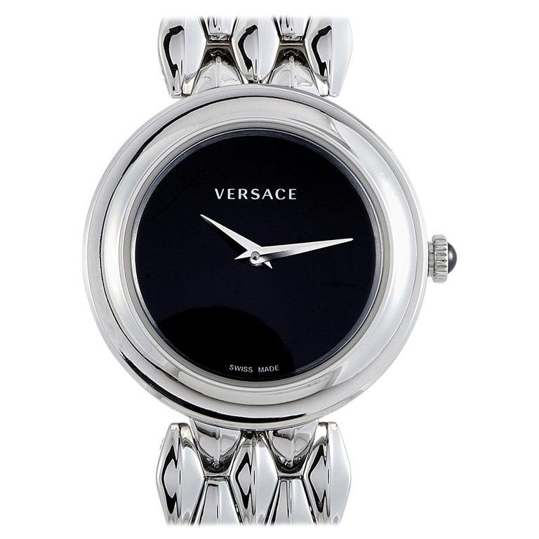 Versace V-Flare Stainless Steel Quartz Watch VEBN00618 For Sale