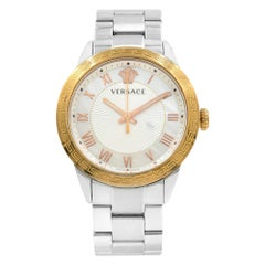 Versace V Sport MOP Guilloche Dial Steel Quartz Ladies Watch P6Q89FD002S099
