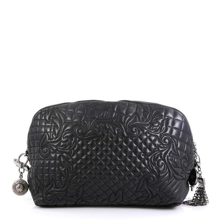 Black Versace Vanitas Crossbody Bag Barocco Leather