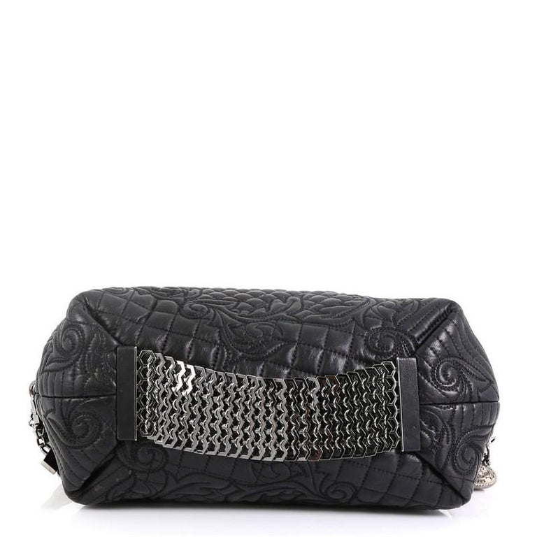Versace Vanitas Crossbody Bag Barocco Leather In Fair Condition In New York, NY