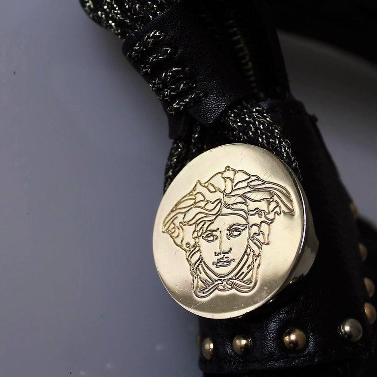 Black Versace Vanitas Shoulder Bag For Sale