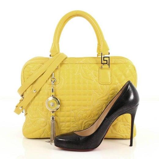6a18de92ec67 Versace Vanitas Zip Satchel Barocco Leather Large at 1stdibs