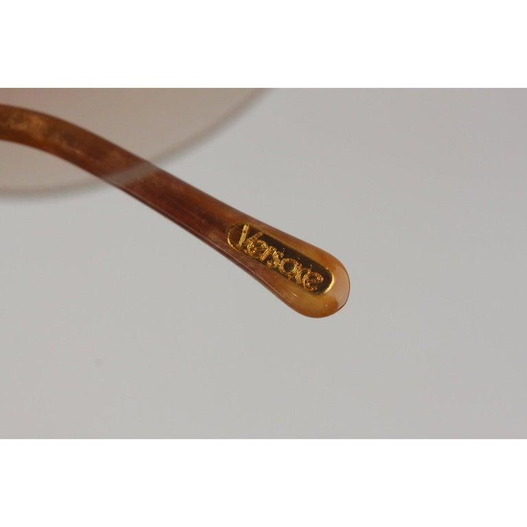 Brown Versace Vintage Cat-Eye Sunglasses 391 Col 928 60mm For Sale