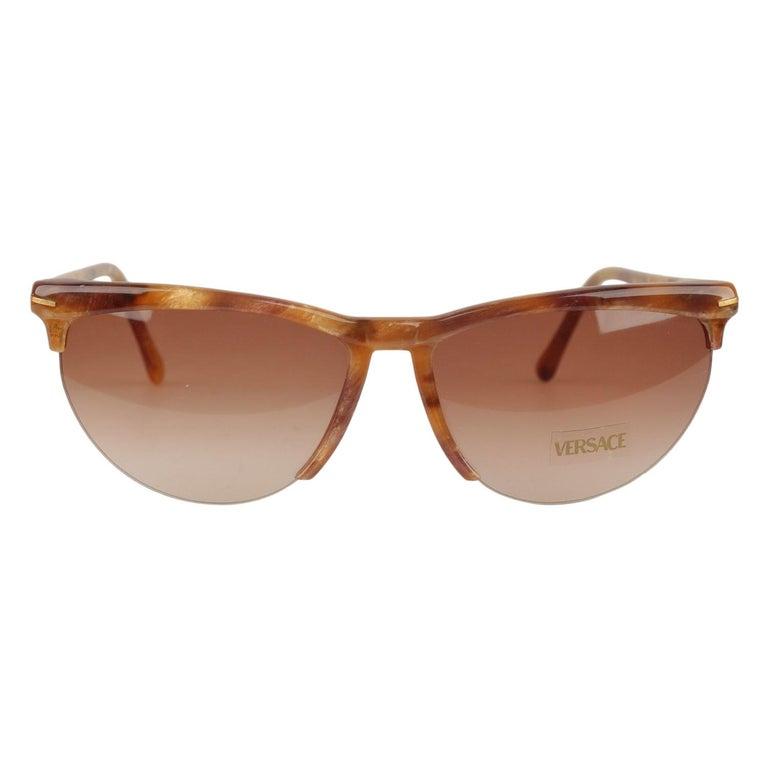 Versace Vintage Cat-Eye Sunglasses 391 Col 928 60mm For Sale