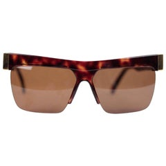 Versace Vintage Gold Brown Unisex Sunglasses Mod. 399
