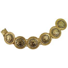 Versace Vintage Golden Bracelet wiith Swarovski crystals.