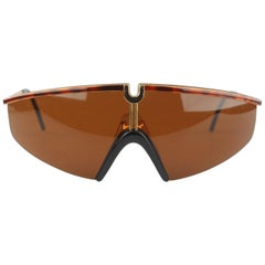Versace Vintage Shield Sunglasses Mod S91 Col 07M