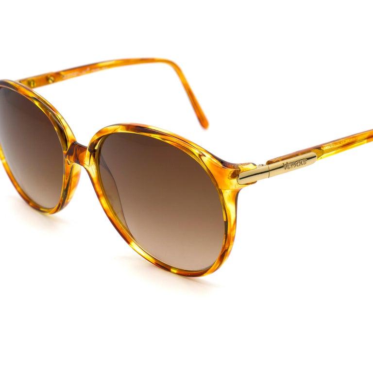 Brown Versace vintage sunglasses 80s For Sale