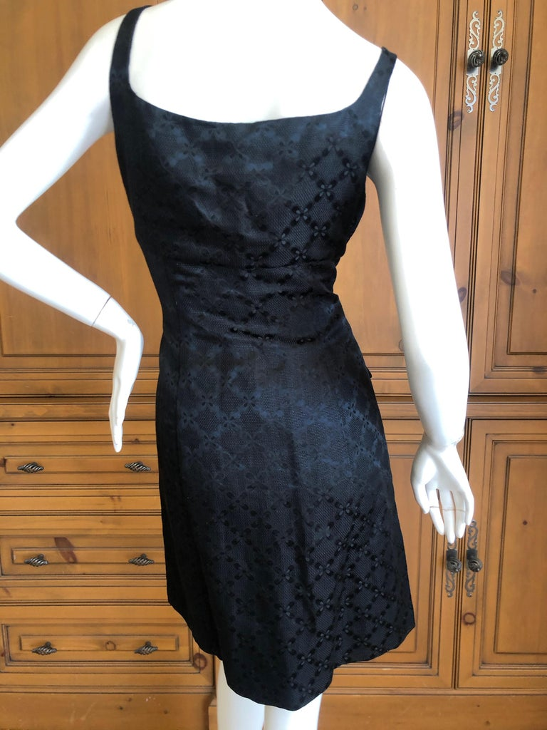 Versace Vintage V2 Versace Classic 1980's Black Jacquard Cocktail Dress For Sale 5