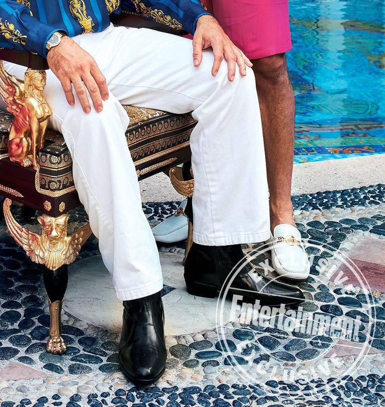 Versace White Deer Skin Signature Loafers Shoes As Seen