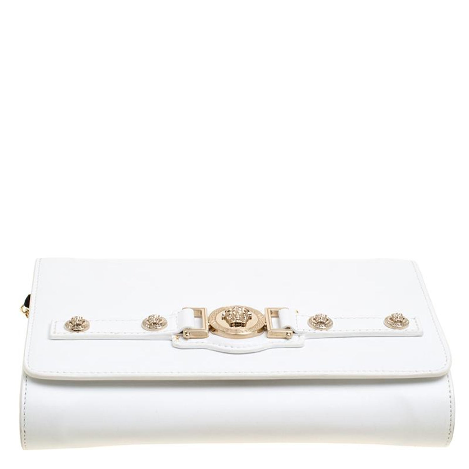 5abb7caa3b Versace White Clutch - Madly Indian