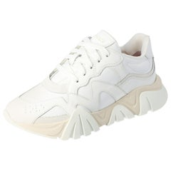 Versace White Leather Squalo Platform Sneakers Size 40