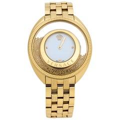 Versace White Yellow Gold Destiny Spirit 86Q Women's Wristwatch 39 mm
